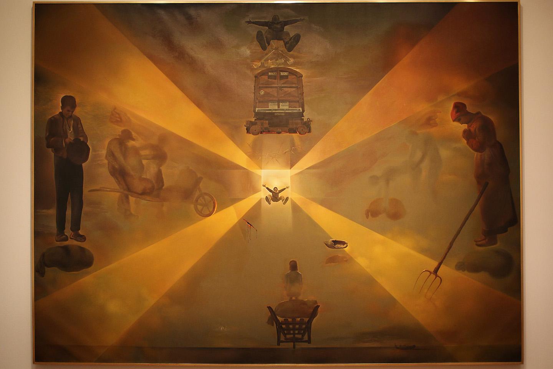 Salvador Dali oma tuntud headuses. See oli päris massiivne taies.