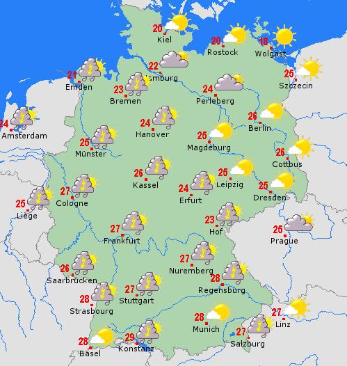 Klassikaline NRW ilm. Äikest, päikest, pilve, vihma. Igale maitsele midagi.