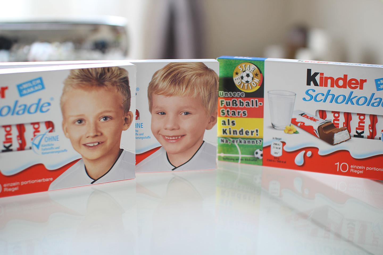 Mu lemmik on Kinder šokolaadi eriseeria. Klassikalise Kinderi-poisi portree asemel leiab sealt erinevate Saksa jalgpallurite lapsepõlve pildid.